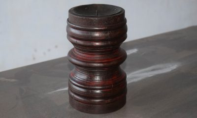 Rich Right Solid Wood Spiral Candle Stand