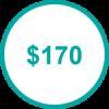 USD 170 TP
