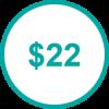 USD 22 TP
