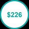 USD 226 TP