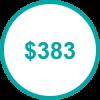 USD 383 TP