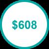USD 608 TP